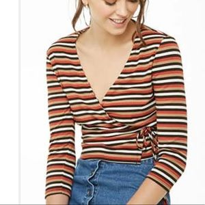 3 for $20! Forever 21 wrap front striped top